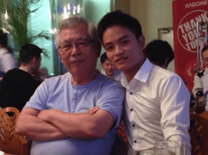 代表取締役村岡廸男とLe Dang Truong